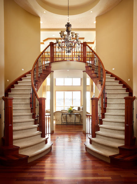 Example of traditional staircase and railing
