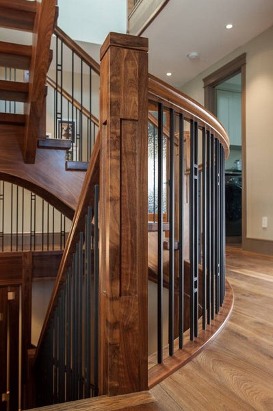 Craftsman style Mission stair post