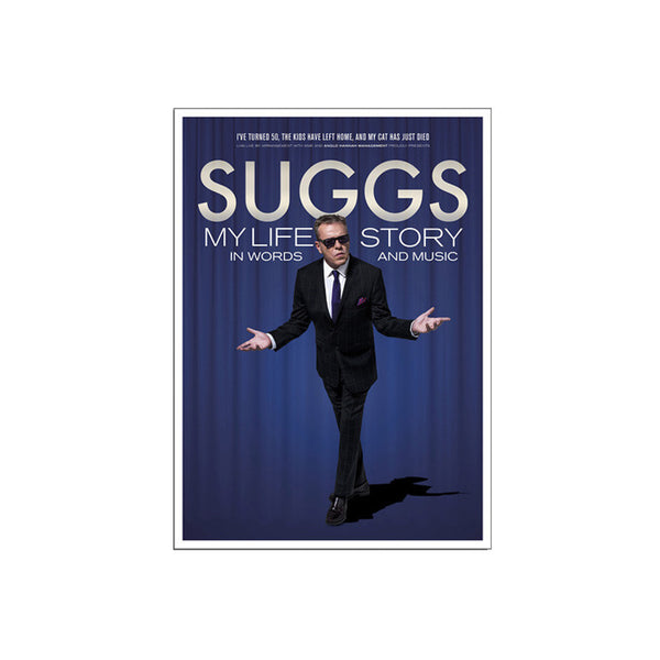 Signed Suggs 2016 tour poster A2