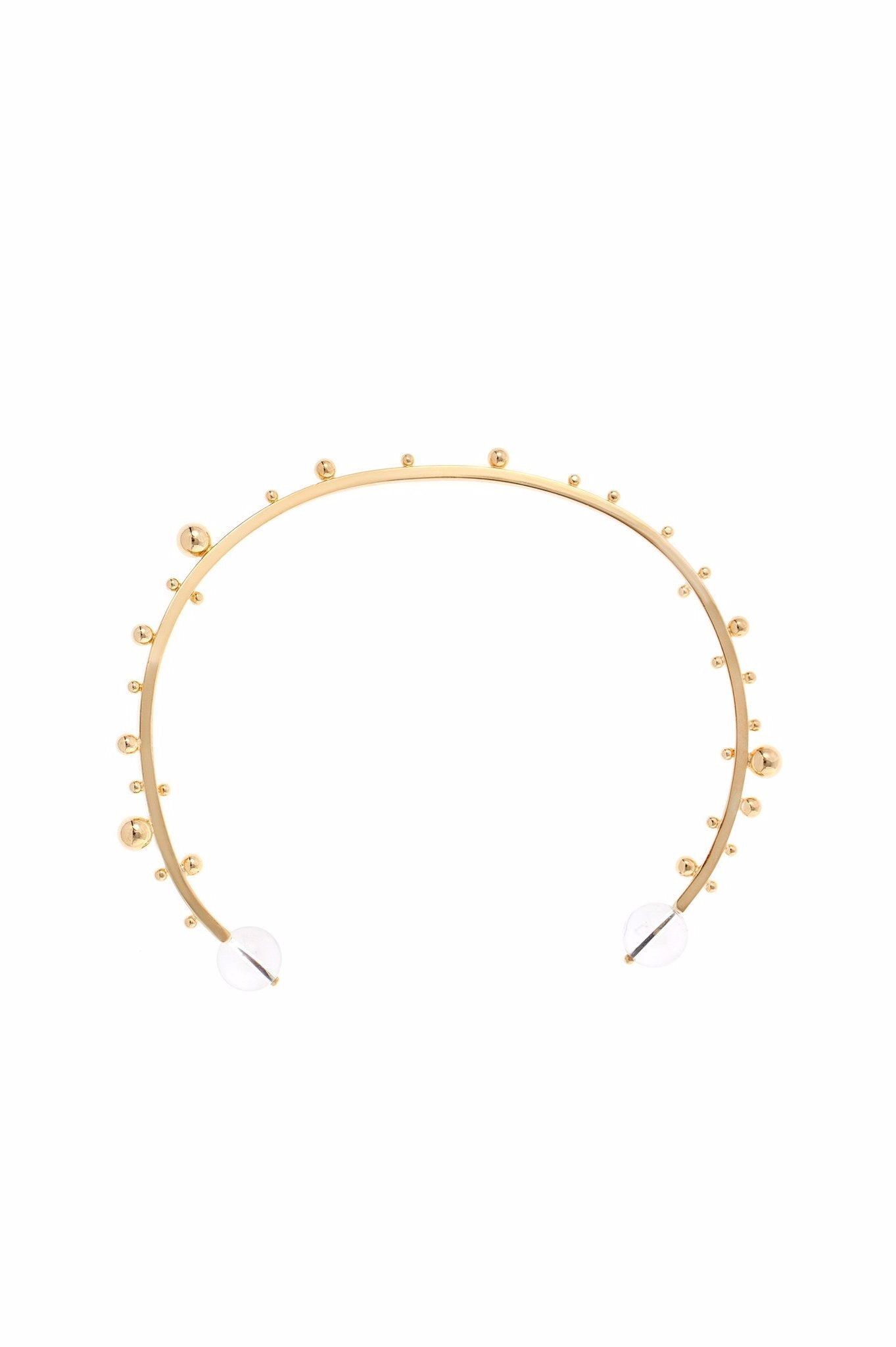 GOLD CRYSTAL AND METAL DEW CHOKER