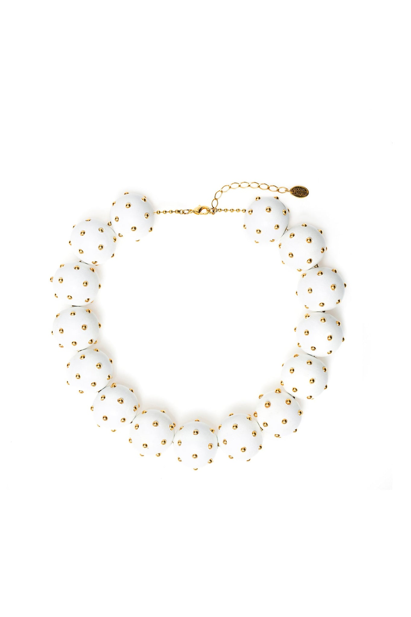 WHITE WOOD BALL CHOKER