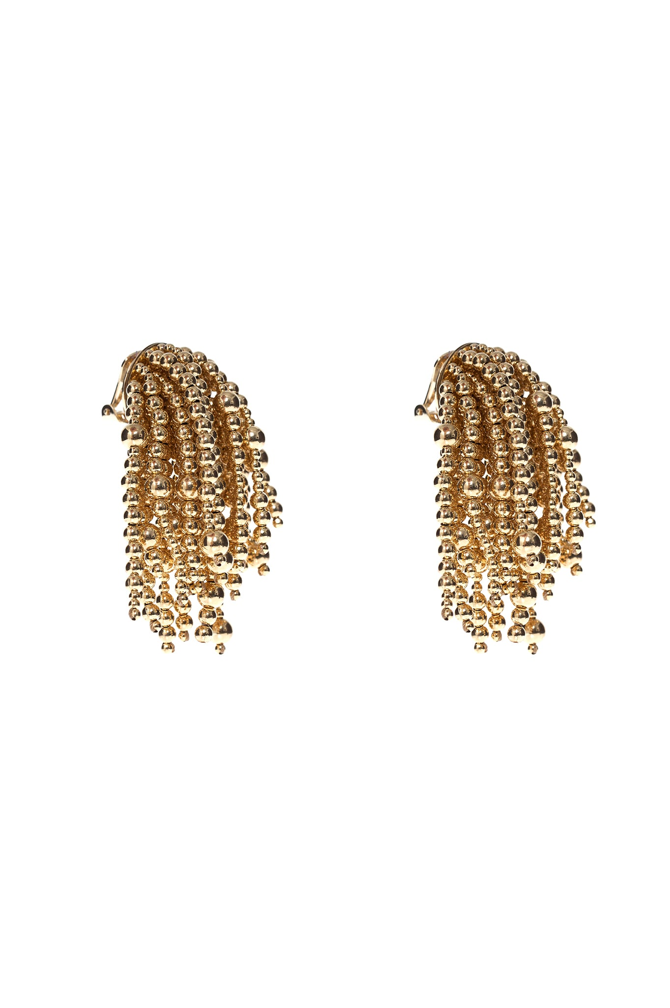 GOLD URCHIN EARRINGS