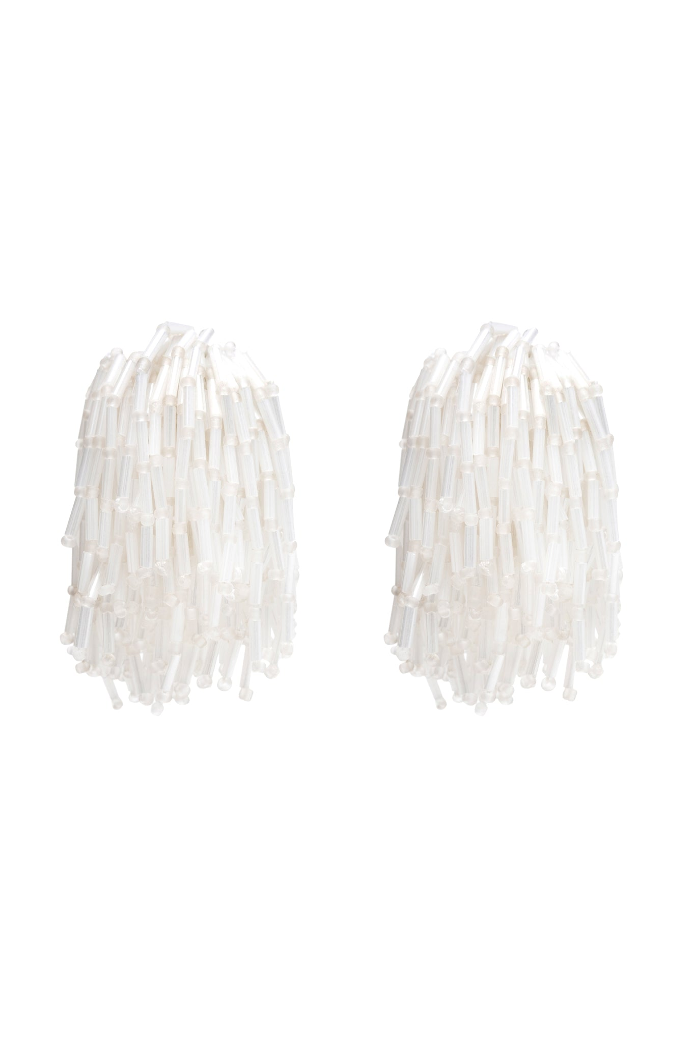 WHITE SHOWER EARRINGS