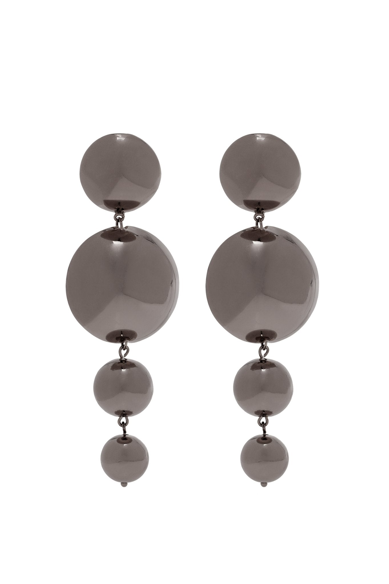 GRAPHITE FOUR BALLS EARRINGS