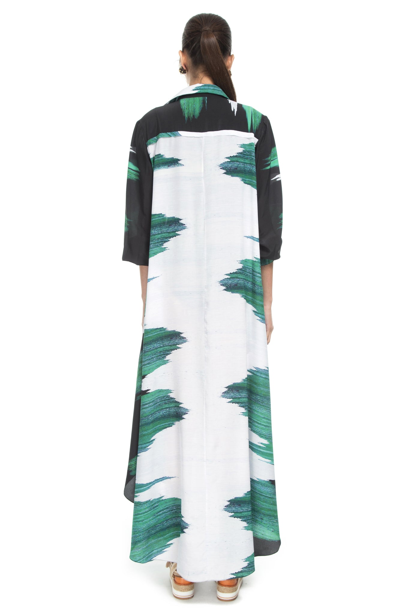 GREEN SEA LONG DRESS