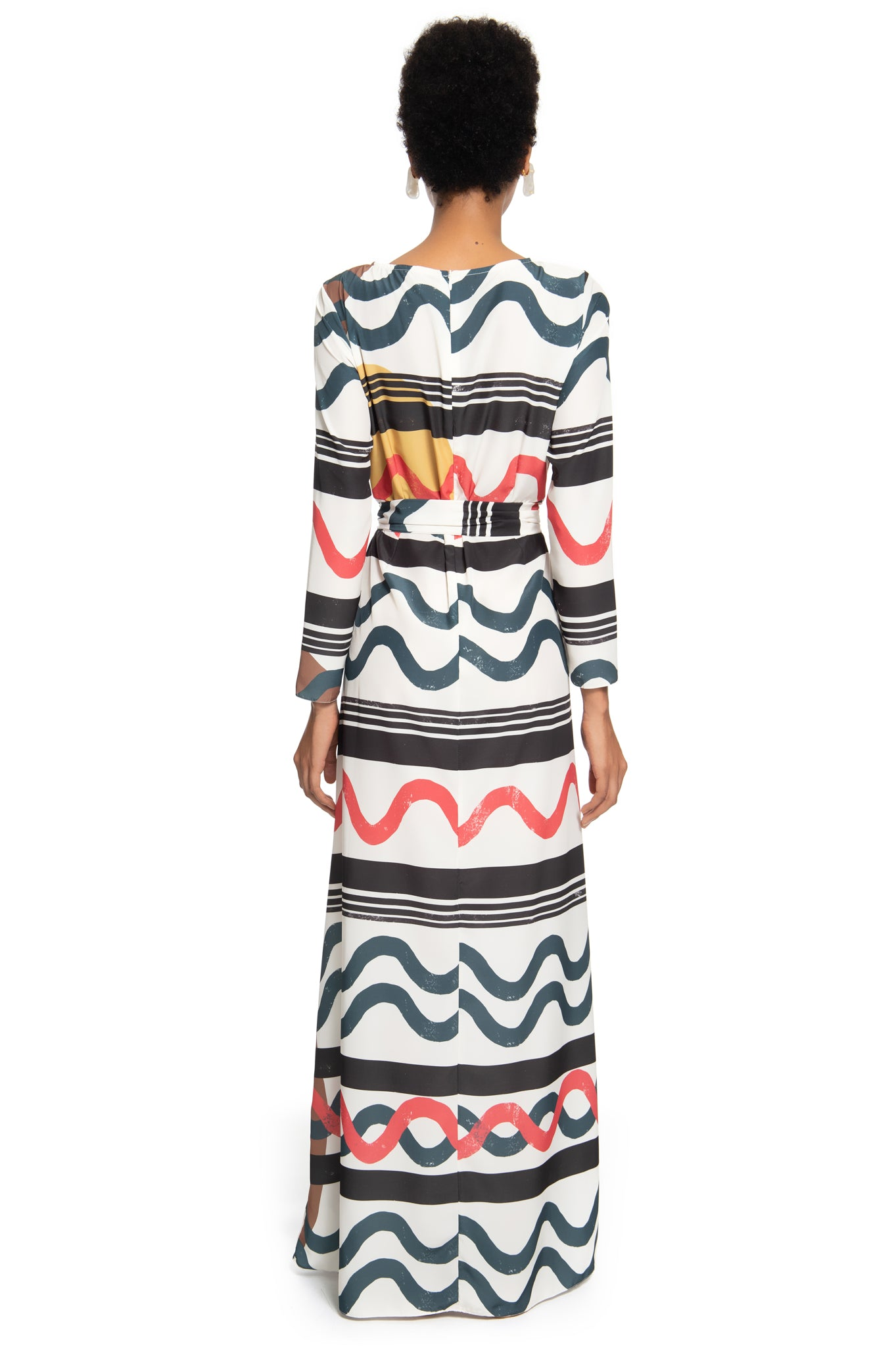 STRIPED LONG BAND DRESS