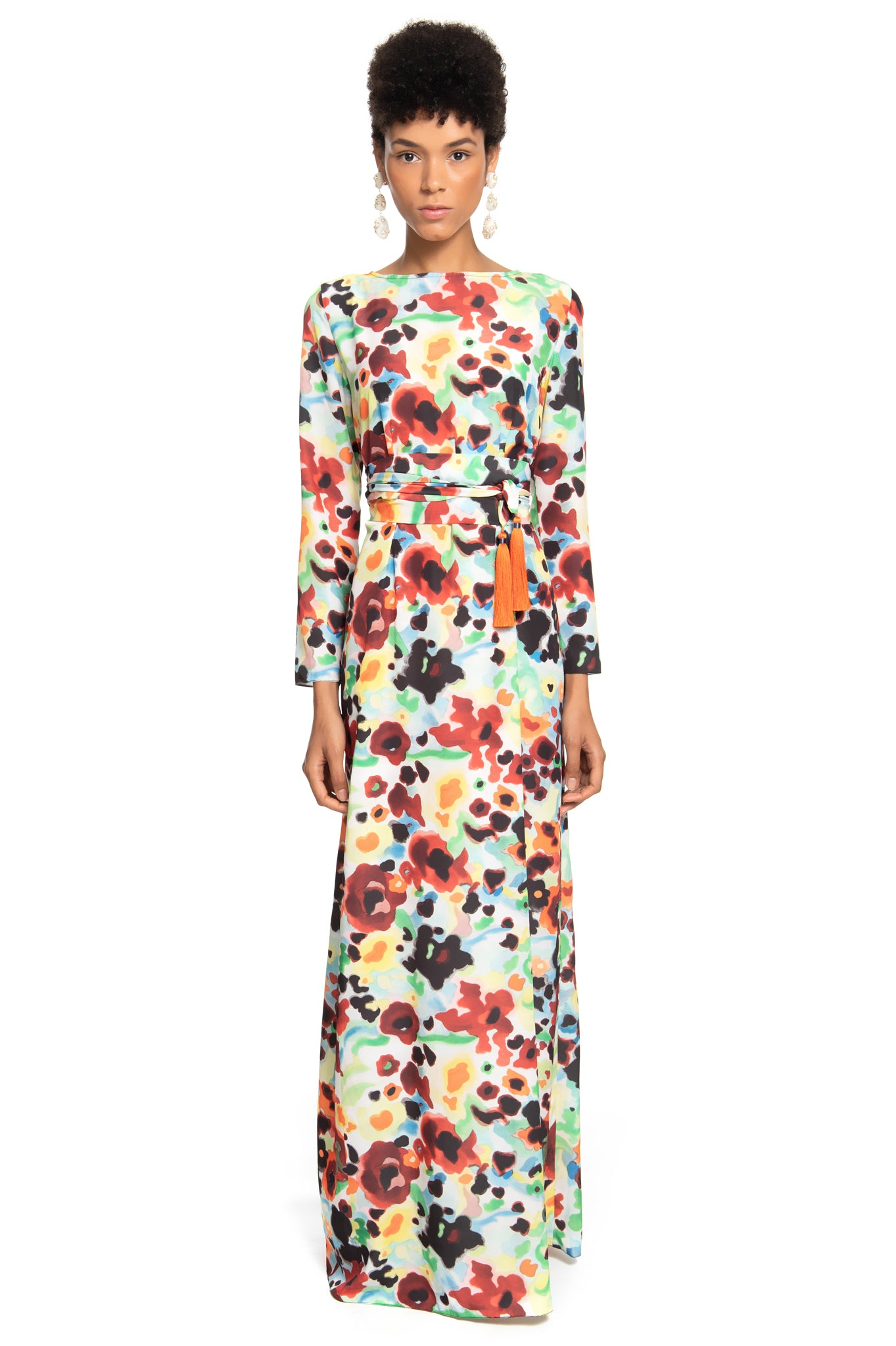 FLORAL LONG BAND DRESS