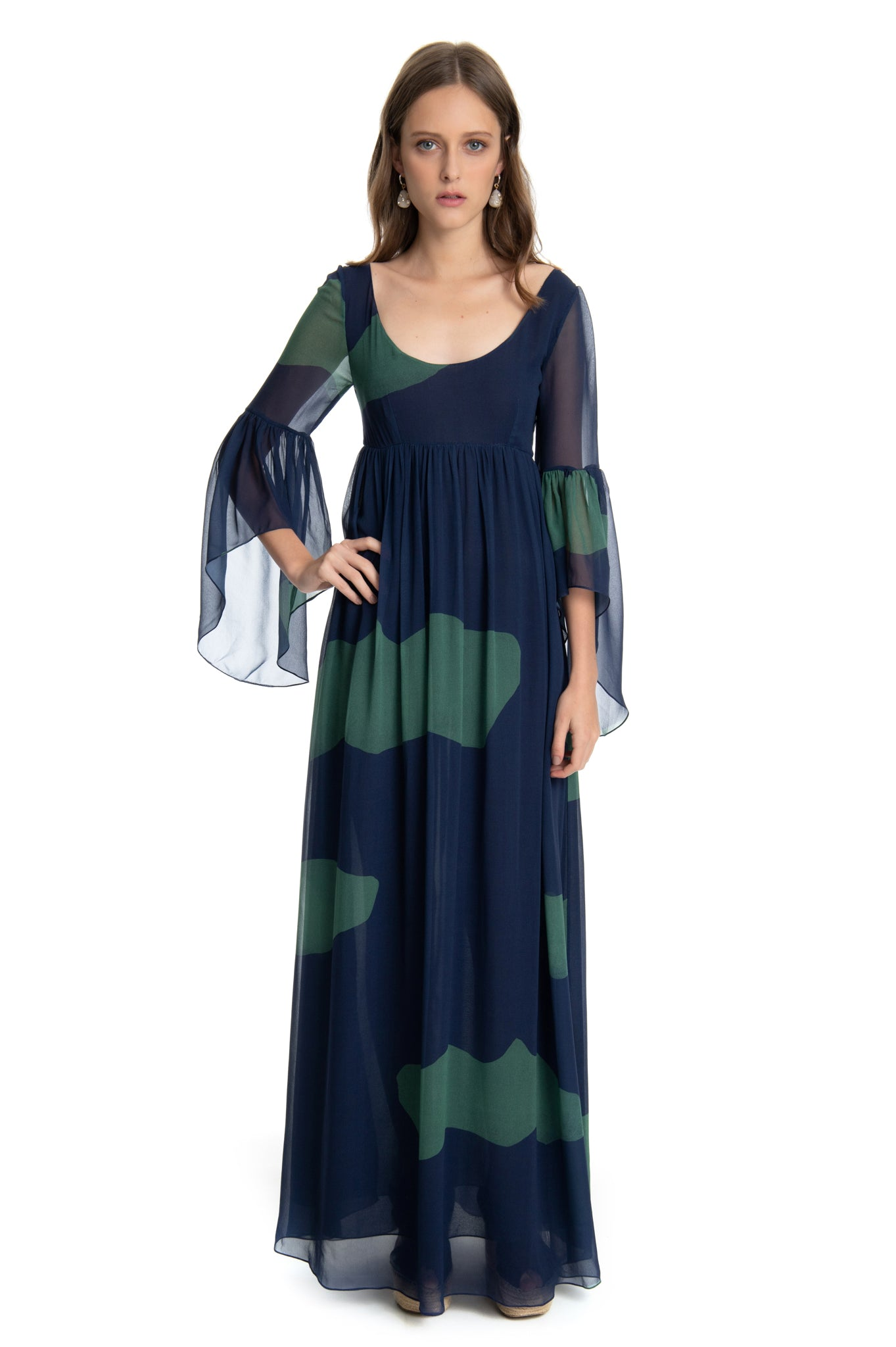 ISABEL DRESS BLUE CLOUDS