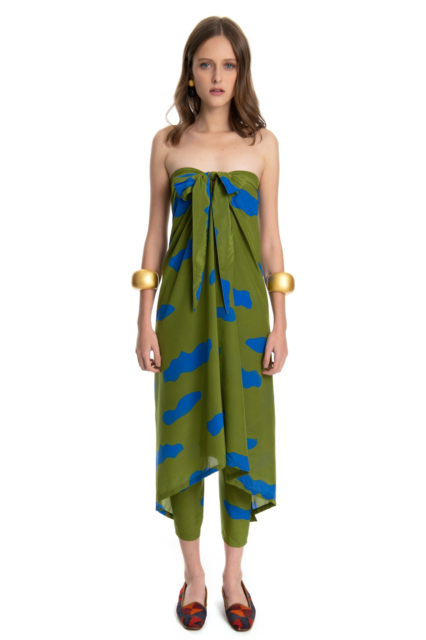 GREEN CLOUDS SARONG