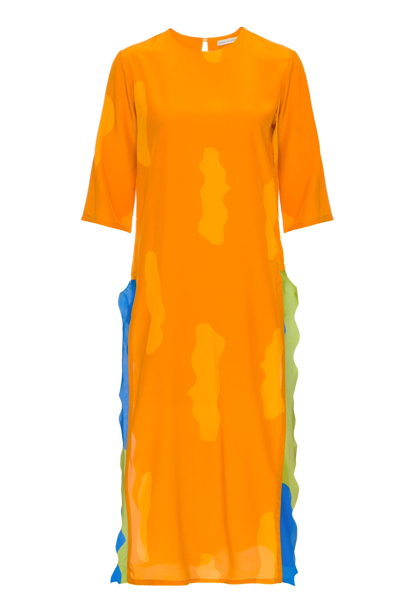 Mustard Clouds Waves Sonia Dress