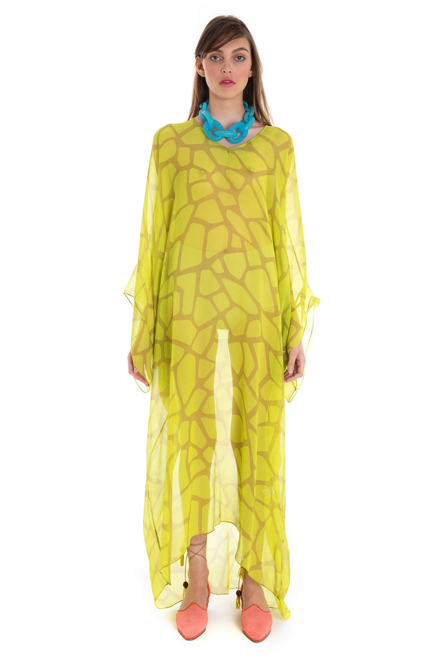 YELLOW GIRAFFE CAFTAN