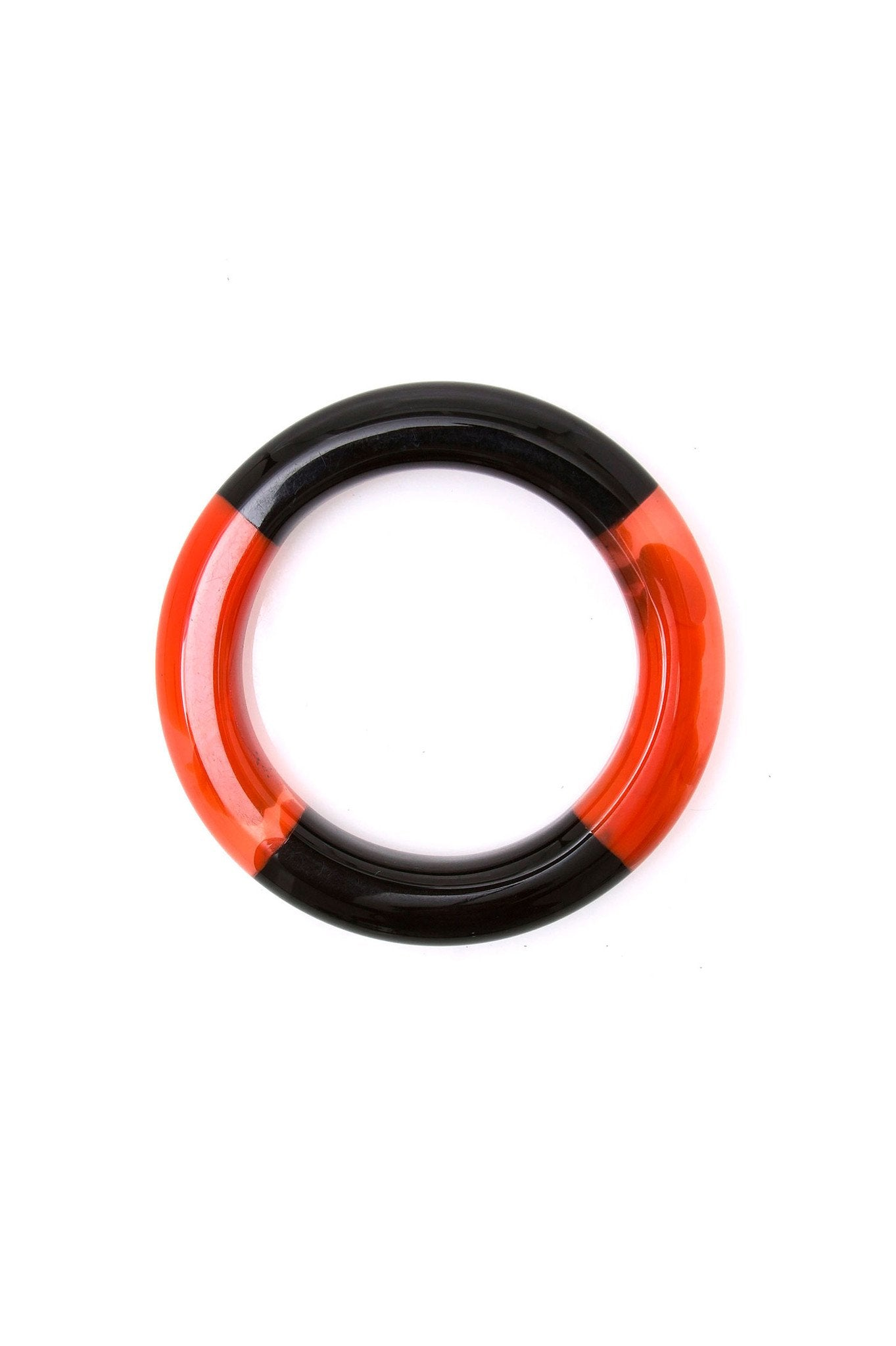BLACK AND ORANGE BICOLOR BRACELET