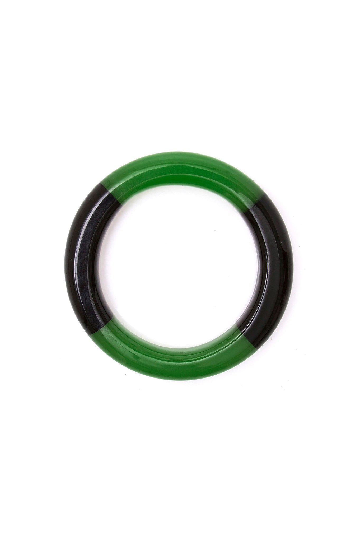 Black and Green Bicolor Bracelet