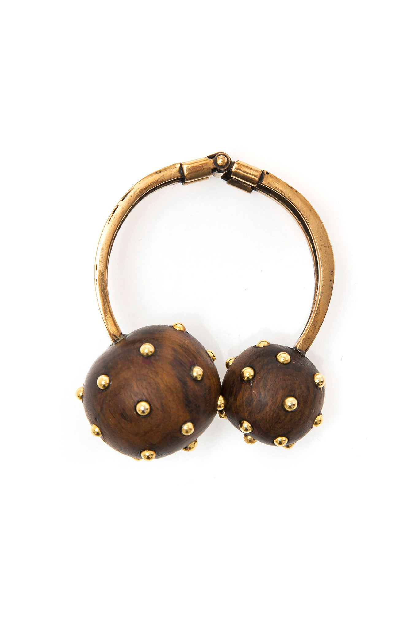 Natural Wood Two Balls Bracelet