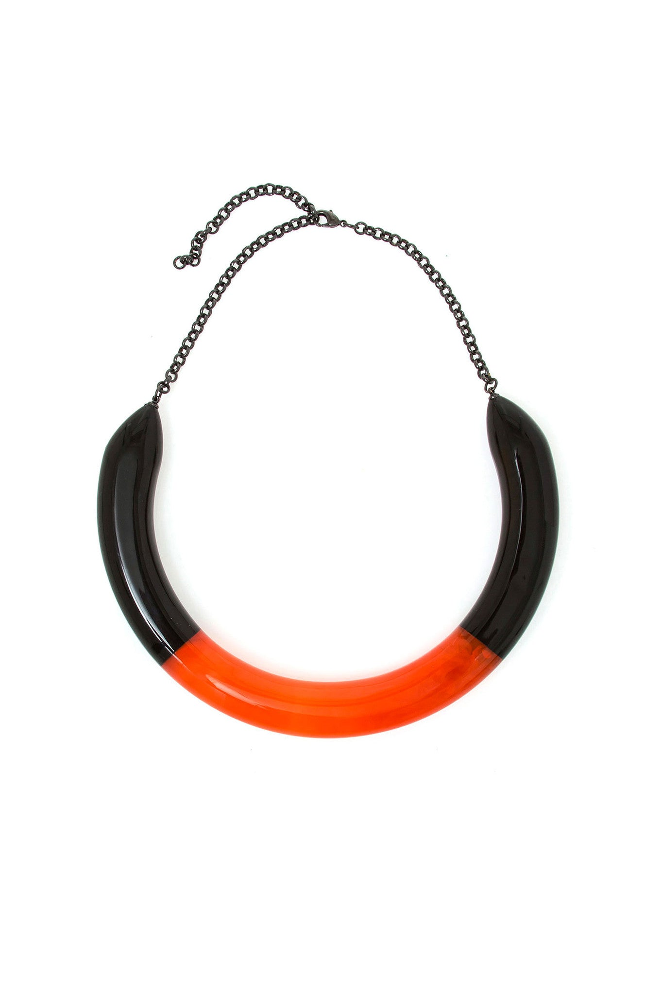 Black and Orange Bicolor Choker