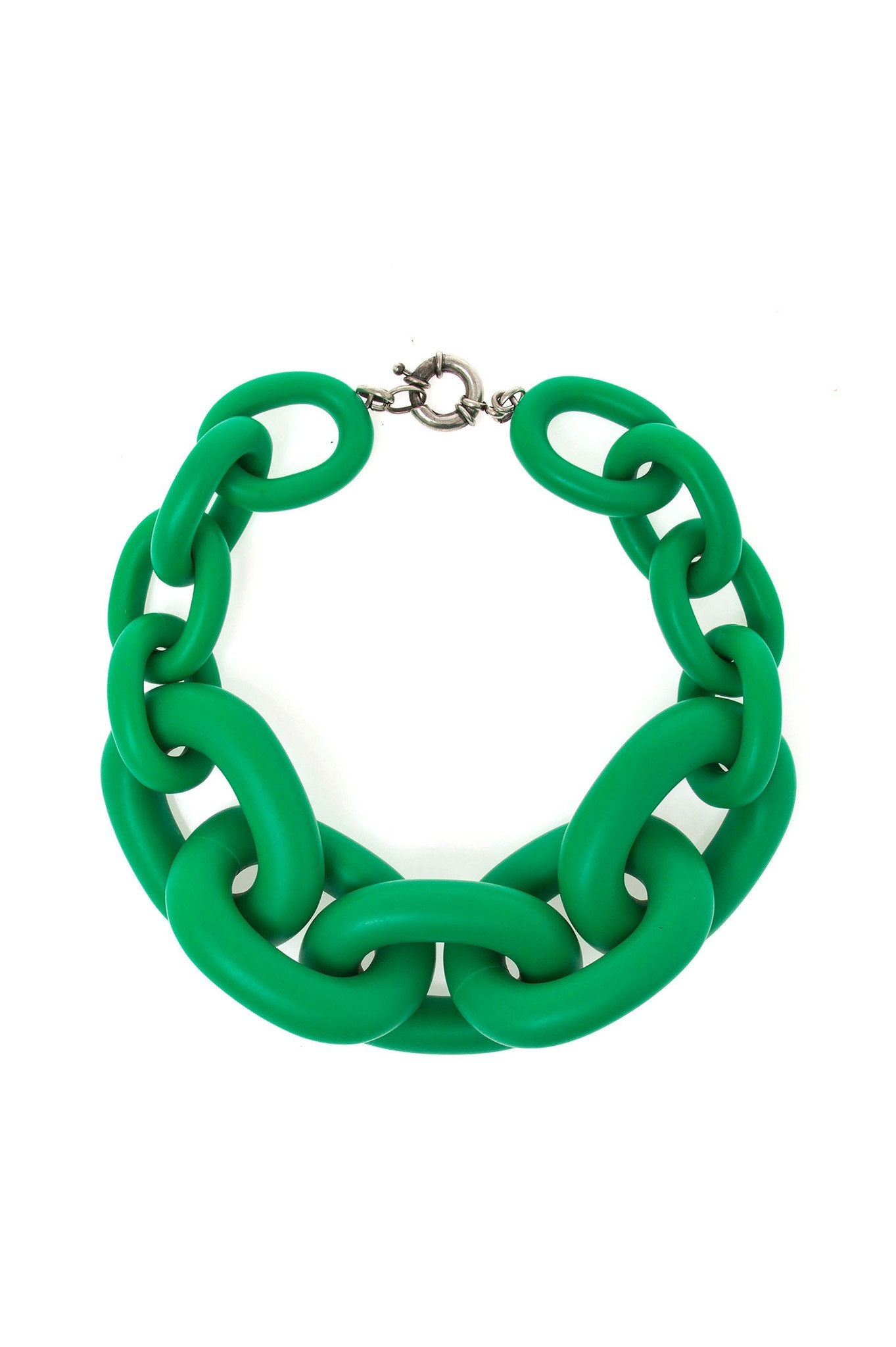 BRIGHT GREEN BIG CHAIN CHOKER