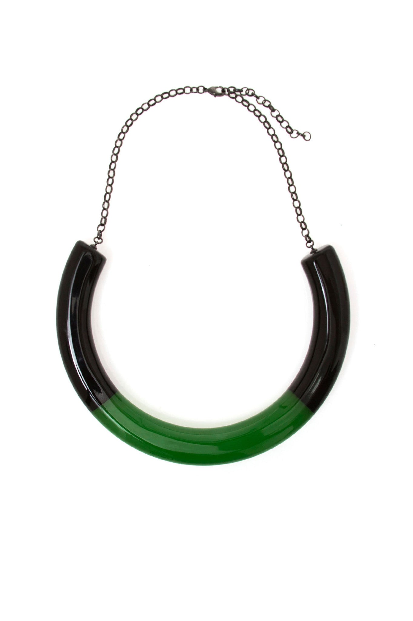 Black and Green Bicolor Choker