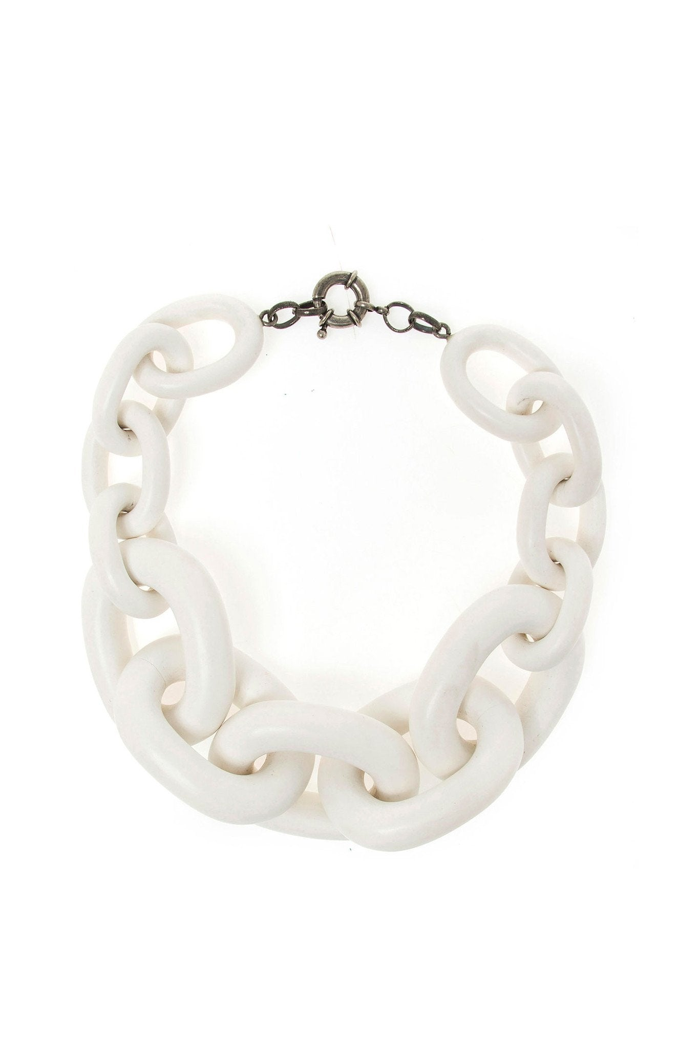 WHITE BIG CHAIN CHOKER