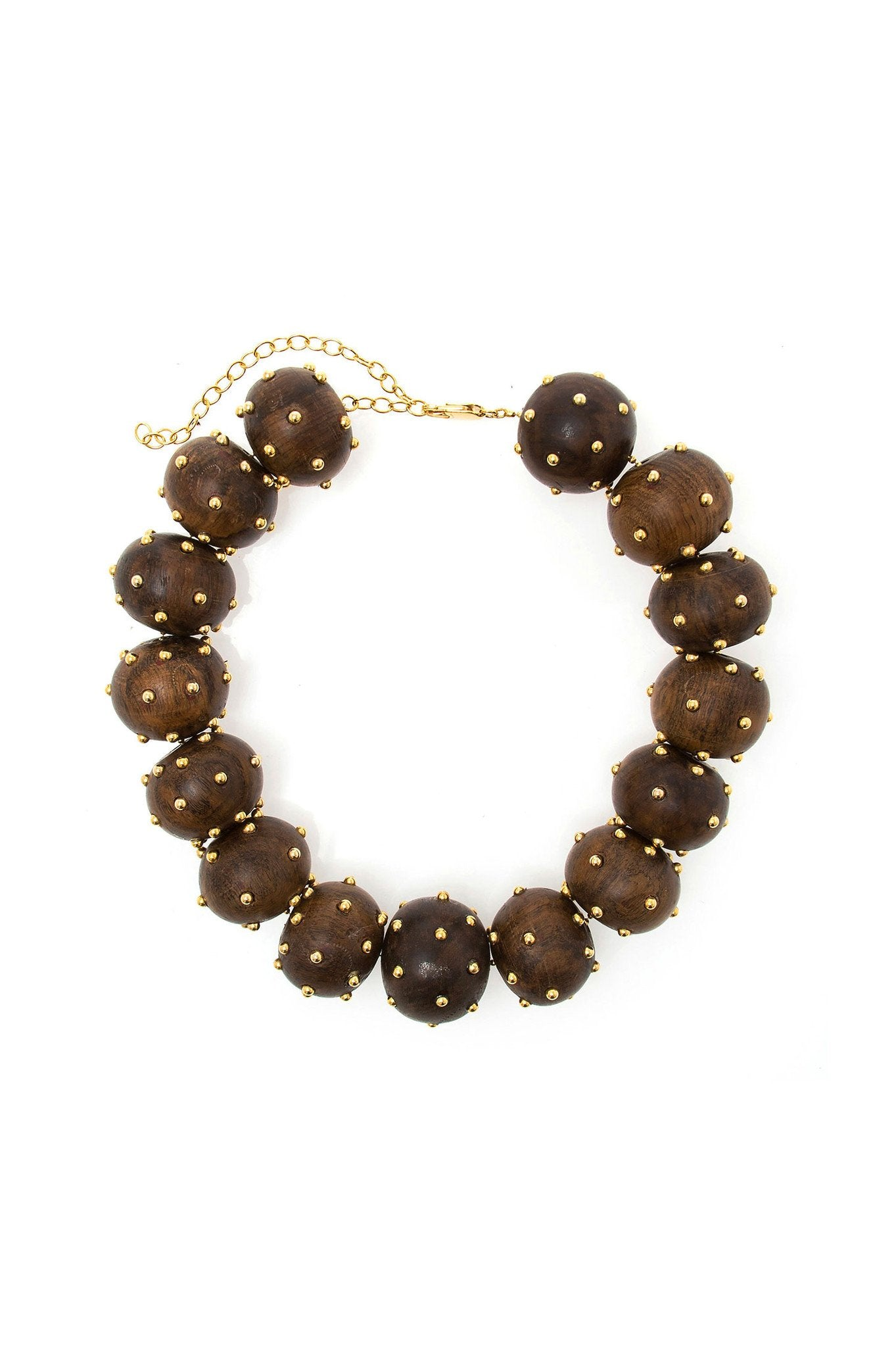 Natural Wood Ball Choker