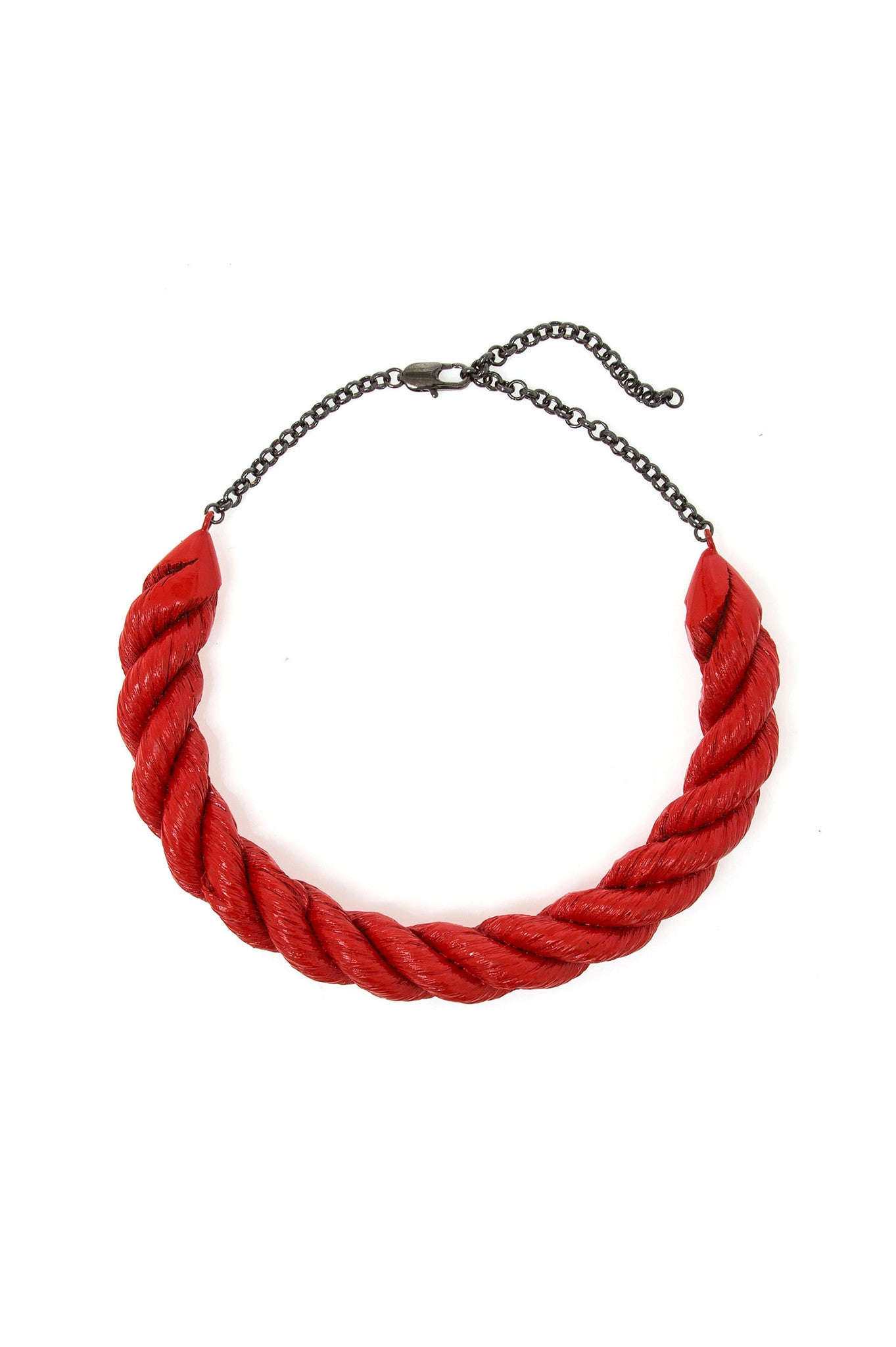 Red Rope Metal Choker
