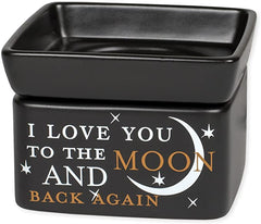 Black 2-in-1 warmer with sentiment,