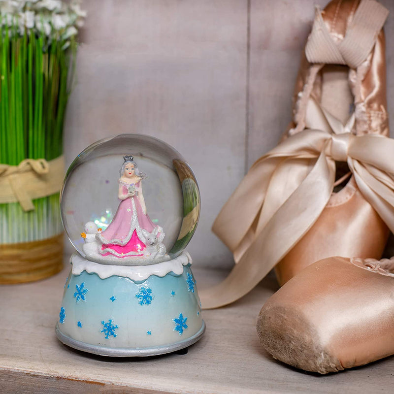 Musical 80MM Water Globe (Winter Princess in the Snow)