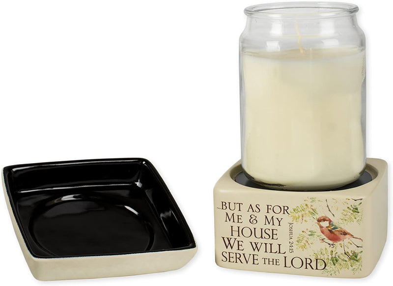 As for Me and My House Ceramic Stoneware Electric 2 in 1 Jar Candle and Wax and Oil Warmer