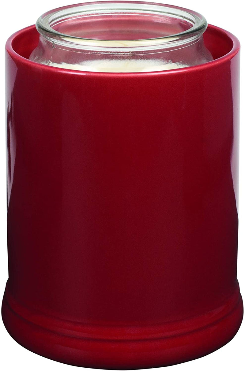 Elanze Designs Solid Color Ceramic Stoneware Electric Jar Candle Warmer