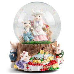 Momma Pigs and Piglets Figurine 100MM Water Globe Plays Tune Take Me Home, Country Roads
