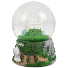 Washington DC Capitol 100mm Resin Glitter Water Globe Plays Tune Star Spangled Banner