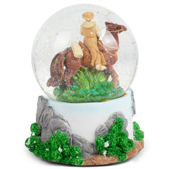 Texas Cowboy Figurine 100MM Water Globe Plays Tune Heart of Texas