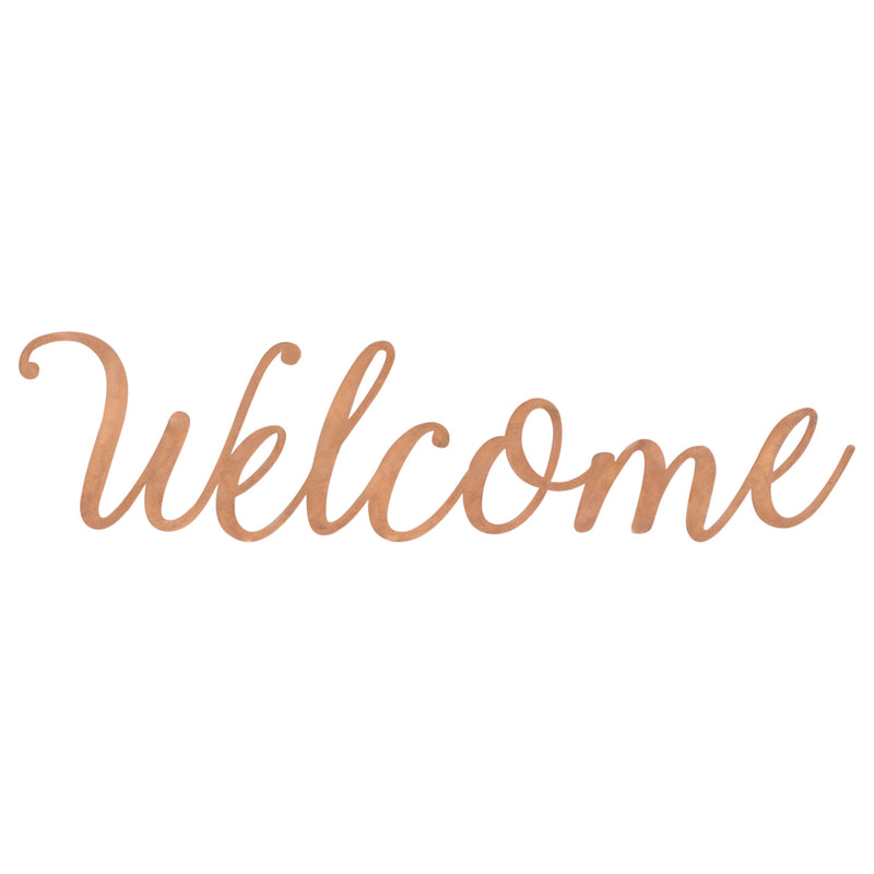 Welcome Copper Finish 22.5 x 5.5 Hand-Twisted Inspirational Wall Art