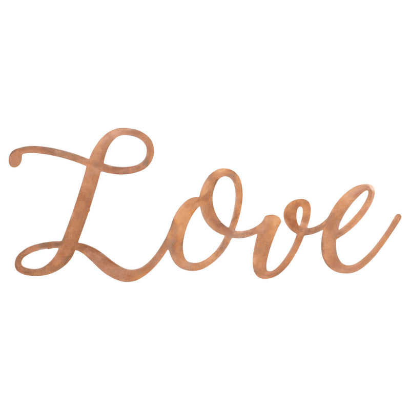 Love Copper Finish 14 x 5.5 Hand-Twisted Inspirational Wall Art