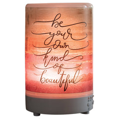 Be Beautiful 8 Colored LED Light 5.75 x 3.5 Frosted Glass Essential Oil Diffuser