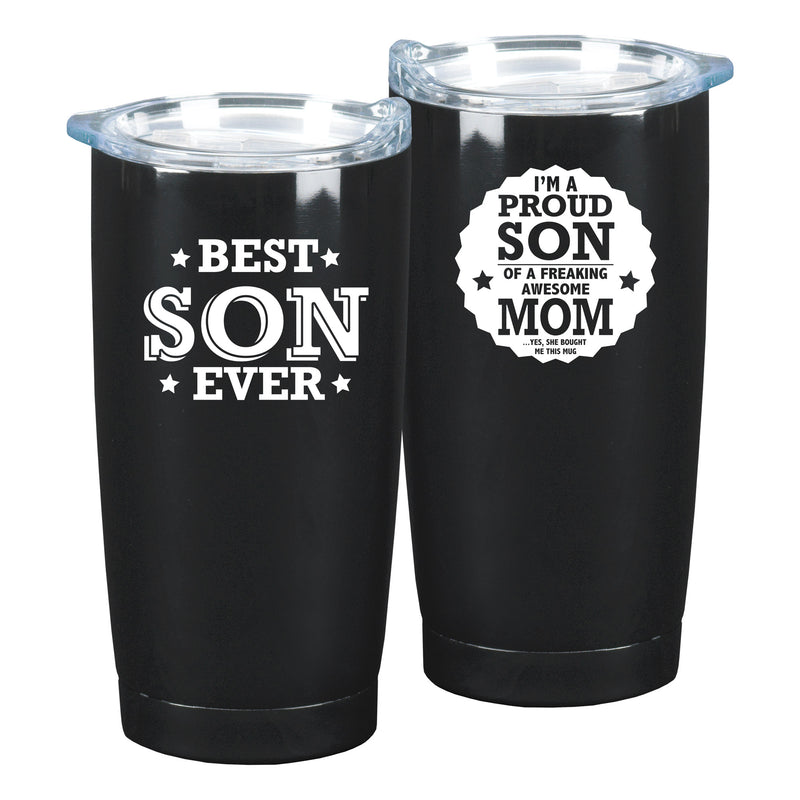 I'm A Proud Son  Black 10 x 3 x 3 Stainless Steel 20 Ounce Travel Mug With Lid