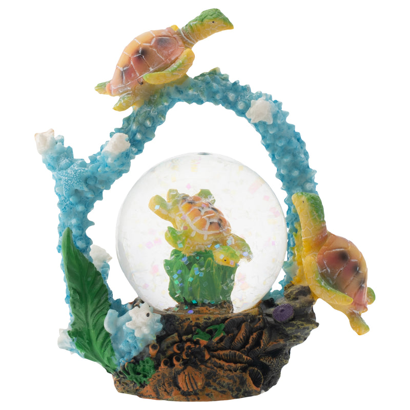 Swimming Sea Turtle Friends Figurine 45MM Glitter Water Globe Decoration