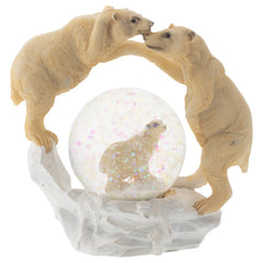 White Polar Bear Family Figurine 45MM Glitter Water Globe Decoration