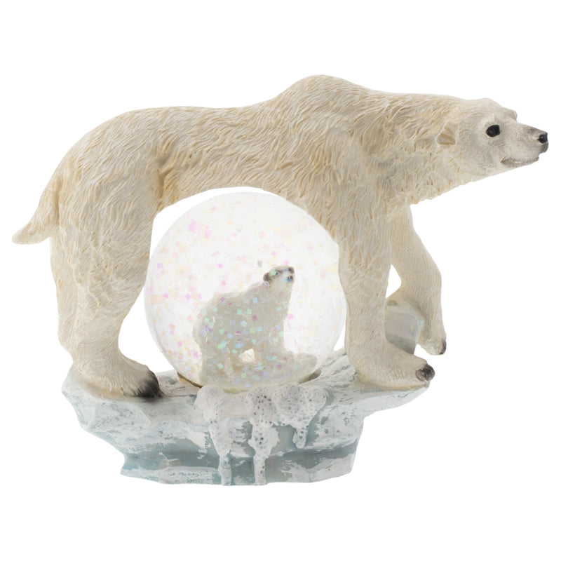 White Polar Bear Figurine 45MM Glitter Water Globe Decoration
