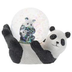Panda Bear Mommy and Cub Figurine 45MM Glitter Water Globe Decoration