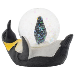 Yellow Neck Penguin Mommy and Chick Figurine 45MM Glitter Water Globe Decoration