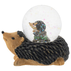 Mommy and Baby Hedgehog Figurine 45MM Glitter Water Globe Decoration