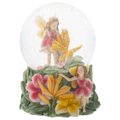 Yellow Lilly Fairy Friends 100MM Musical Water Globe Plays Tune Fur Elise
