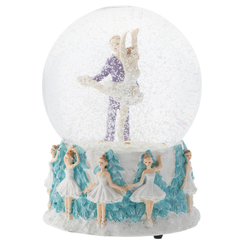 Prince and Clara Dancing 100MM Musical Water Globe Plays Tune Dance of The Sugar Plum Fairy