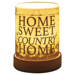Home Sweet Country Home Frosted Glass Illuminated Scent Warmer