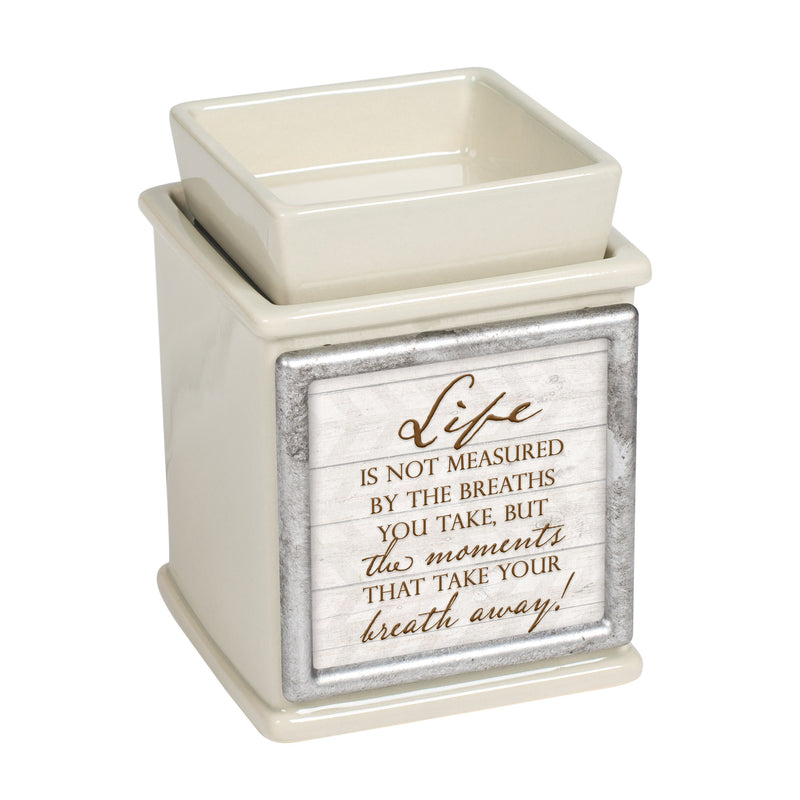 Life Measured by Moments Ceramic Powder Sand Interchangeable Photo Frame Candle Wax Oil Warmer