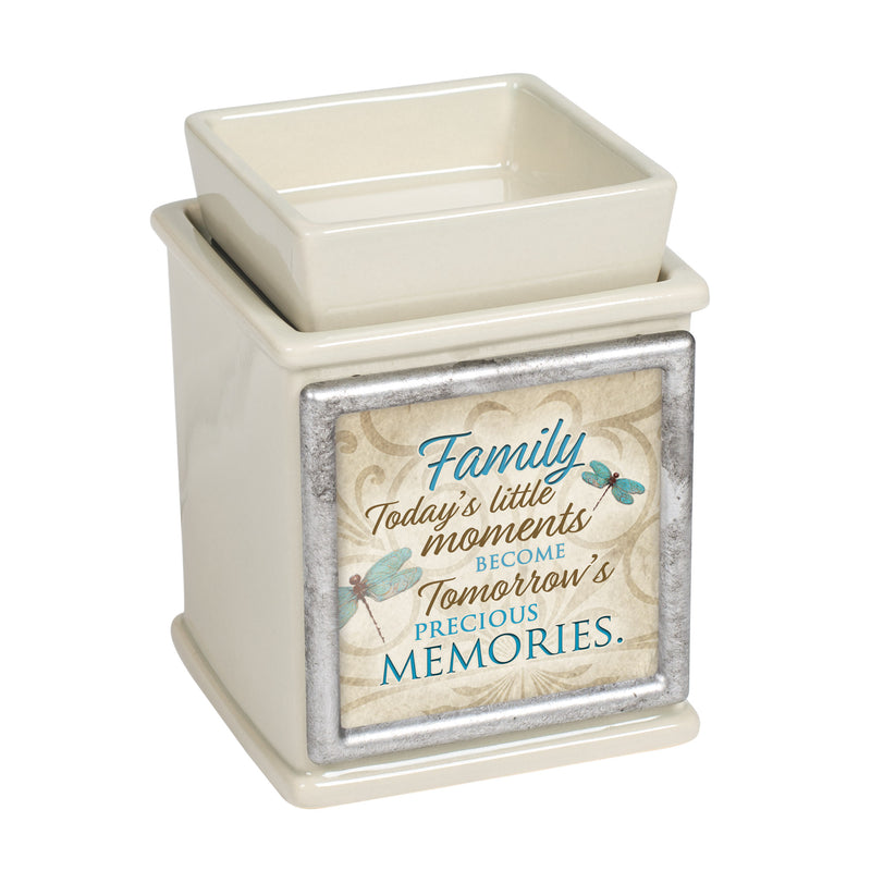 Family Moments Precious Ceramic Powder Sand Interchangeable Photo Frame Candle Wax Oil Warmer