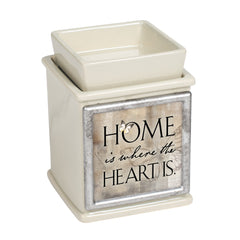 Home Where The Heart Is Ceramic Powder Sand Interchangeable Photo Frame Candle Wax Oil Warmer