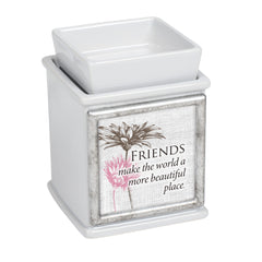 Friends Make World Beautiful Slate Grey Interchangeable Photo Frame Candle Wax Oil Warmer