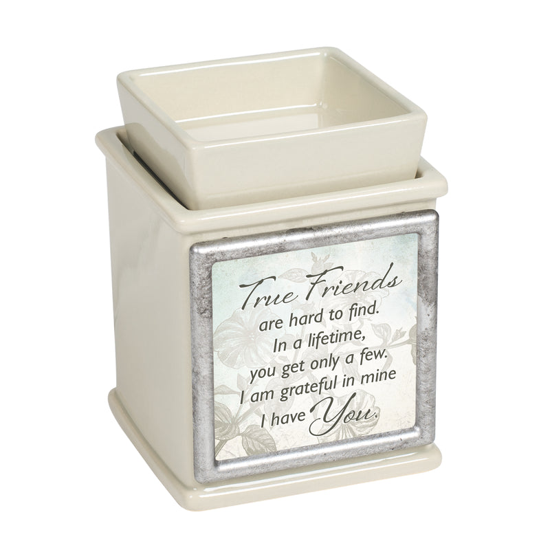 True Friends Are Hard to Find Sand Interchangeable Print Candle Wax and Oil Warmer