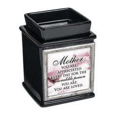 Mother Appreciated Glossy Black Interchangeable Photo Frame Candle Wax Oil Warmer